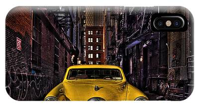 Back Alley Taxi Cab IPhone Case