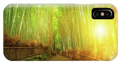 IPhone Case featuring the photograph Bamboo Grove Arashiyama Kyoto by Benny Marty