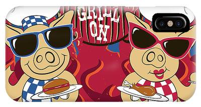 Barbecue Pigs IPhone Case