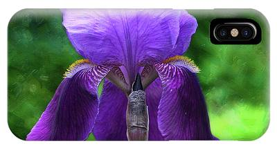 Beautiful Iris With Texture IPhone Case