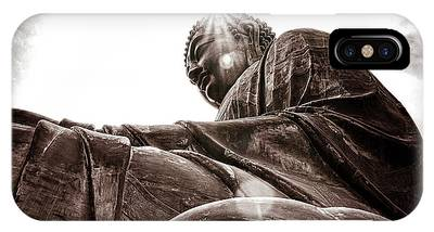 IPhone Case featuring the digital art Big Buddha by Kevin McClish