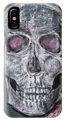 IPhone Case featuring the pastel Billie's Skull by Kim Nelson
