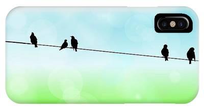 Birds Hanging Around IPhone Case