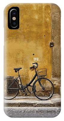 IPhone Case featuring the photograph Black Bike by Patricia Strand