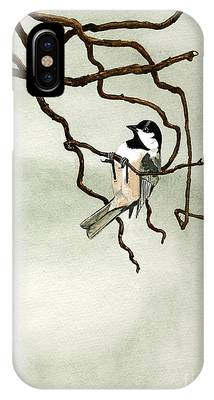 Black Capped Chickadee Phone Cases