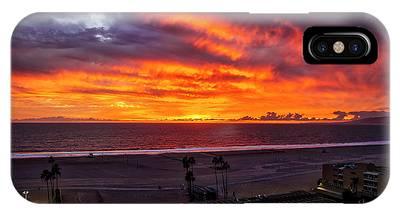 Blazing Sunset Over Malibu IPhone Case