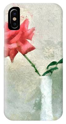 IPhone Case featuring the digital art Blooming Rose by Patricia Strand