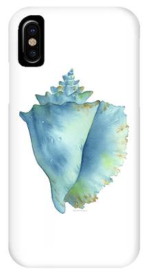 Blue Conch Shell IPhone Case