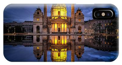 IPhone Case featuring the photograph Blue Hour At Karlskirche by Kevin McClish