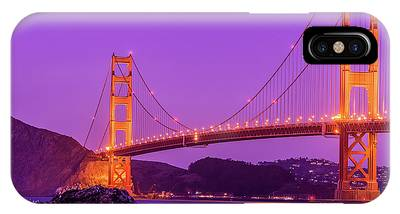 Golden Gate Bridge In The Blue Hour IPhone Case