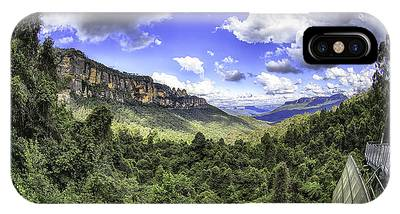 IPhone Case featuring the photograph Blue Mountains Fisheye by Chris Cousins