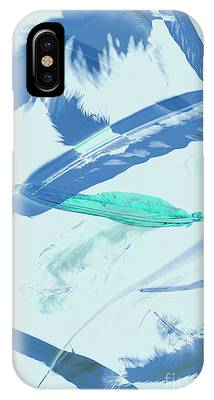IPhone Case featuring the photograph Blue Toned Artistic Feather Abstract by Jorgo Photography - Wall Art Gallery