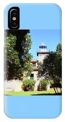 Bois Blanc Island Lighthouse Tower And Living Quarters IPhone Case by Sally Sperry