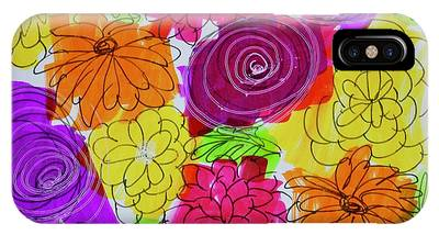 IPhone Case featuring the painting Bold Flowers by Kim Nelson