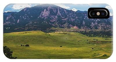 IPhone Case featuring the photograph Boulder Flatirons by Andy Konieczny