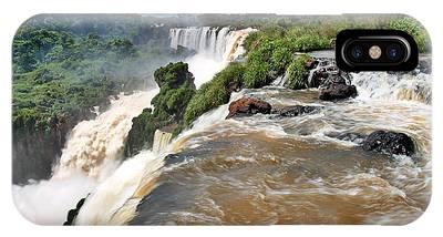 IPhone Case featuring the photograph Brazil,iguazu Falls, by Juergen Held