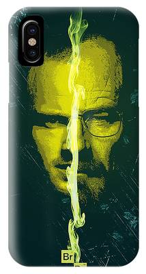 Breaking Bad Poster Heisenberg Print Walter White And Jesse Pinkman Portrait Wall Decor IPhone Case