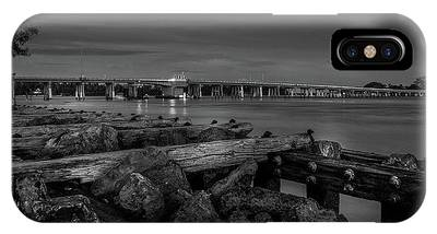 Bridge To Longboat Key In Bw IPhone Case