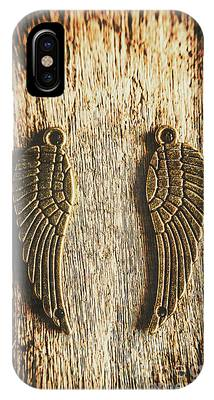 IPhone Case featuring the photograph Bronze Angel Wings by Jorgo Photography - Wall Art Gallery