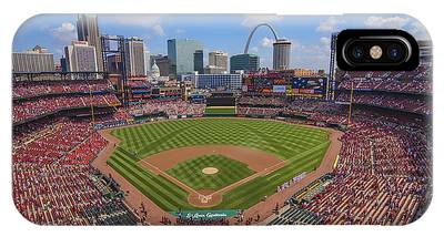 Busch Stadium St. Louis Cardinals Ball Park Village #3b IPhone Case