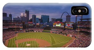 Busch Stadium St. Louis Cardinals Ball Park Village Twilight #3c IPhone Case