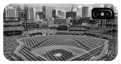Busch Stadium St. Louis Cardinals Black White Ballpark Village IPhone Case