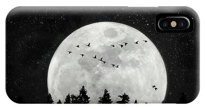 By The Light Of The Silvery Moon - Birds  IPhone Case