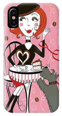 Cafe Girl IPhone Case