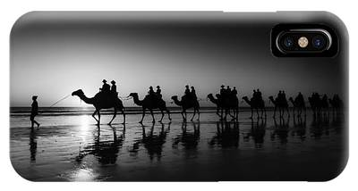 IPhone Case featuring the photograph Camels On The Beach by Chris Cousins