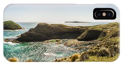 IPhone Case featuring the photograph Cape Grim Cliff Panoramic by Jorgo Photography - Wall Art Gallery