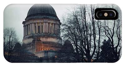 IPhone Case featuring the photograph Capitol Aglow by Patricia Strand