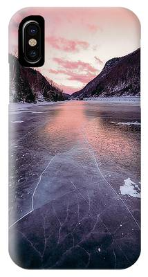 IPhone Case featuring the photograph Cascade Ice by Brad Wenskoski