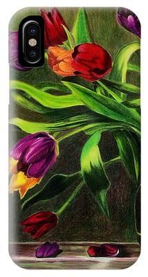 Cascading Tulips IPhone Case by Patti Ferron
