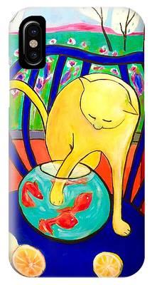 Cat - Tribute To Matisse IPhone Case