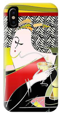 Champagne For One At The Zebra Lounge IPhone Case