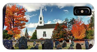 Chester Village Cemetery In Autumn IPhone Case