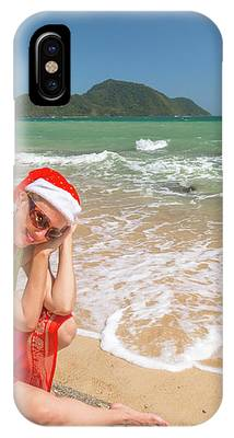 Christmas At Tropics IPhone Case by Benny Marty