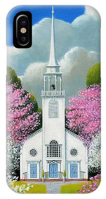 Church Of The Dogwoods IPhone Case