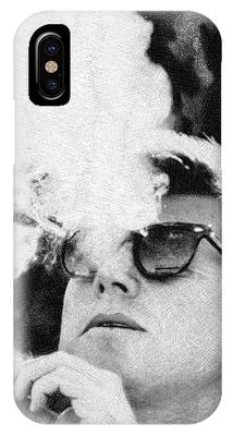 Cigar Smoker Cigar Lover Jfk Gifts Black And White Photo IPhone Case