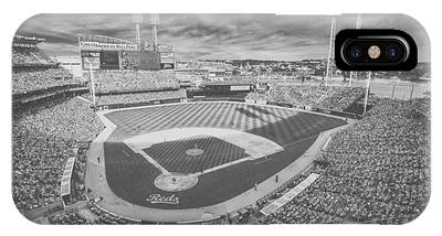 Cincinnati Reds Great American Ballpark Creative 6 Black White IPhone Case