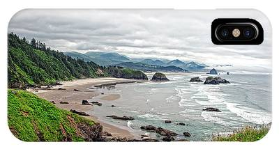 Cloudy Oregon Coast From Ecola Park Phone Case by Lincoln Rogers