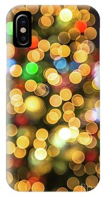 Colorful Christmas Background IPhone Case by Benny Marty