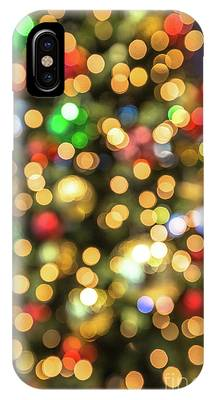 Colorful Christmas Lights IPhone Case by Benny Marty
