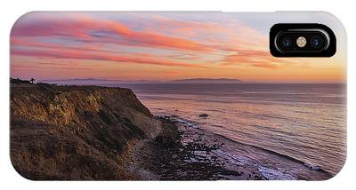 IPhone Case featuring the photograph Colorful Sunset At Golden Cove by Andy Konieczny