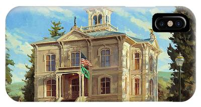 Courthouse Paintings iPhone Cases