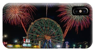 Coney Island At Night Fantasy IPhone Case