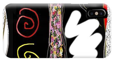 Cosmic Geisha - Trapped In Computational Graffiti  IPhone Case