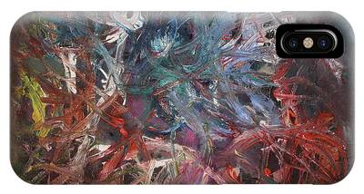 IPhone Case featuring the painting Cosmic Web by Michael Lucarelli