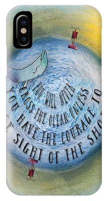 Courage To Lose Sight Of The Shore Mini Ocean Planet World IPhone Case
