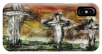 IPhone Case featuring the painting Crucifixion #2 by Michael Lucarelli